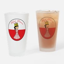 Polish Princess Baby Girl Drinking Glass