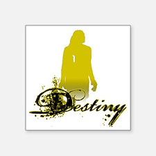 """hope-solo-destiny-shirt-bla Square Sticker 3"""" x 3"""""""