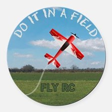 inafield Round Car Magnet