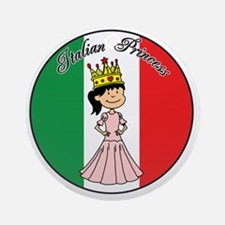 Italian Princess Shirt Round Ornament