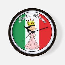 Italian Princess Shirt Wall Clock