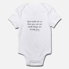 preemie saying c barbara brow Infant Bodysuit