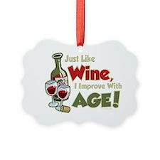 Wine-Improve-With-Age Ornament