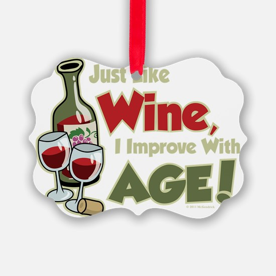 Wine-Improve-With-Age Ornament