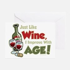 Wine-Improve-With-Age Greeting Card