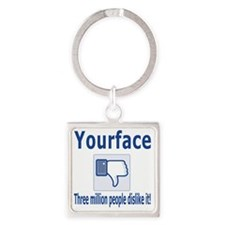 yourface Square Keychain