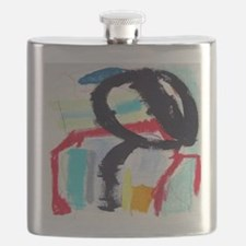 abstract125pillow Flask