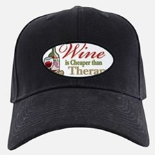Wine-Cheaper-Than-Therapy Baseball Hat