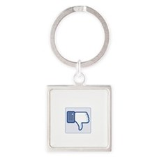 yourface(blk) Square Keychain