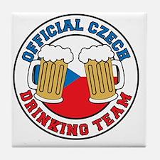 Official Czech Drinking Team Tile Coaster