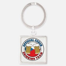 Official Czech Drinking Team Square Keychain