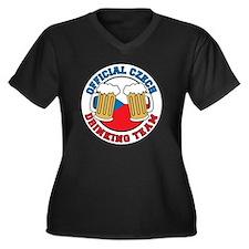 Official Cze Women's Plus Size Dark V-Neck T-Shirt