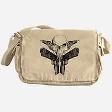 1911_skull_blk Messenger Bag