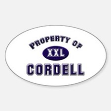 Property of cordell Oval Decal