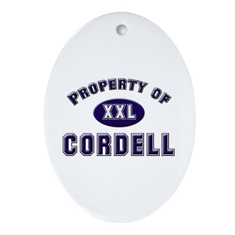 Property of cordell Oval Ornament