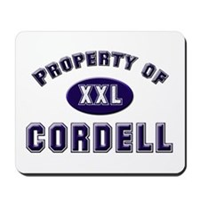 Property of cordell Mousepad
