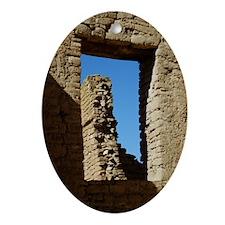 Pueblo Bonito Window Oval Ornament