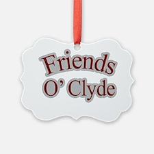 Seinfeld-FriendsOClyde-Baseball Ornament