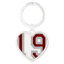 Seinfeld-FriendsOClyde-Baseball-Bac Heart Keychain