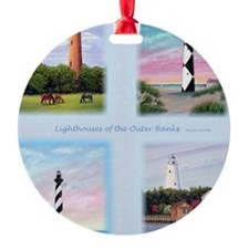 Lighthouses Outer Banks tall Ornament