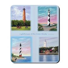 Lighthouses Outer Banks tall Mousepad
