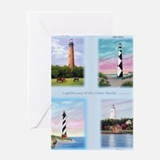 Lighthouses Outer Banks tall Greeting Card