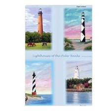 Lighthouses Outer Banks t Postcards (Package of 8)