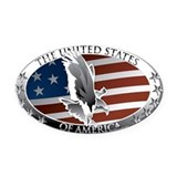American flag Oval Car Magnets