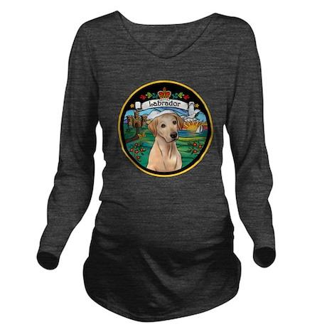 J-ORN-Coat-Arms-Yell Long Sleeve Maternity T-Shirt