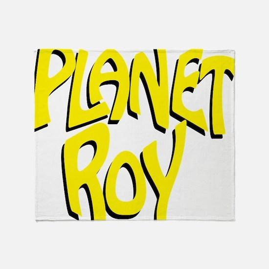 Planet Roy Logo Yellow Throw Blanket