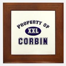Property of corbin Framed Tile