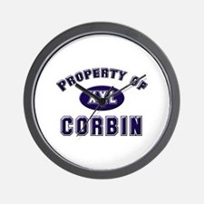 Property of corbin Wall Clock