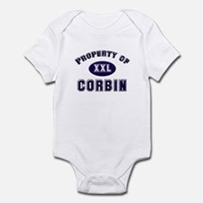 Property of corbin Infant Bodysuit