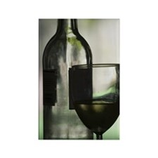 a glass of wine Rectangle Magnet