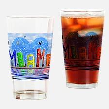 Miami Drinking Glass