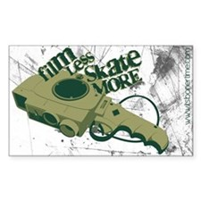 film less skate more Rectangle Decal
