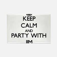 Keep Calm and Party with Jim Magnets