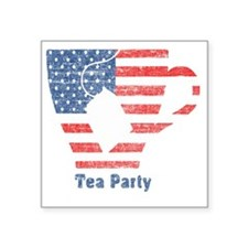 "teapartyfaded Square Sticker 3"" x 3"""