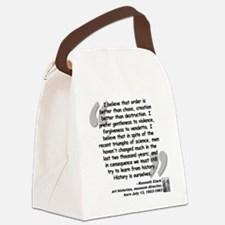 Clark Believe Quote Canvas Lunch Bag