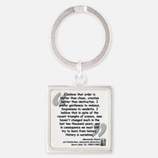 Clark Believe Quote Square Keychain