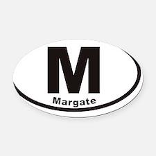 margateMovals20113x5cp Oval Car Magnet