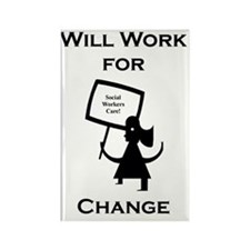 Working for Change Rectangle Magnet