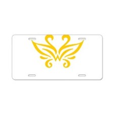 yellow_white_PNG Aluminum License Plate