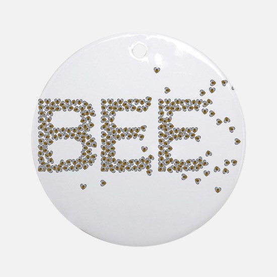 BEES Round Ornament