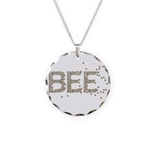 BEES Necklace Circle Charm