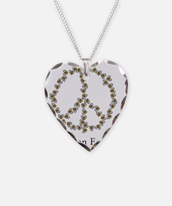 Bees on Earth (Peace) Necklace Heart Charm