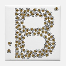 B (made of bees) Tile Coaster