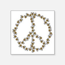 """Bees Peace Sign Square Sticker 3"""" x 3"""""""