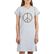 Bees Peace Sign Women's Nightshirt