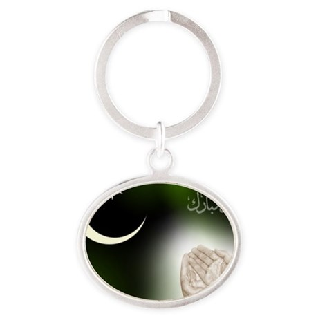 eid_ul-fitr_id_fitter1_1152 Oval Keychain